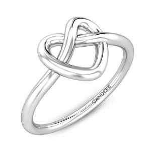 Weslee Heart Love Knot Gold Ring