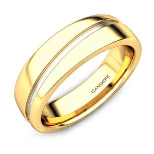 Robert Gold Wedding Band For Him