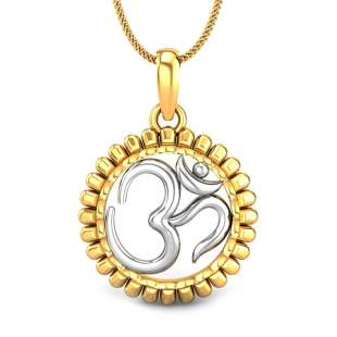 Omkareshwar Gold Pendant