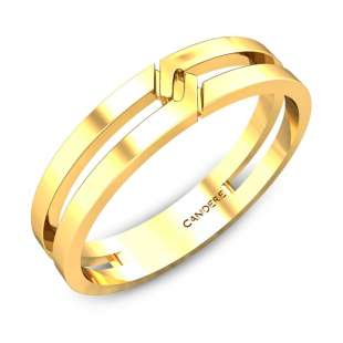 June Gold Wedding Band for Him
