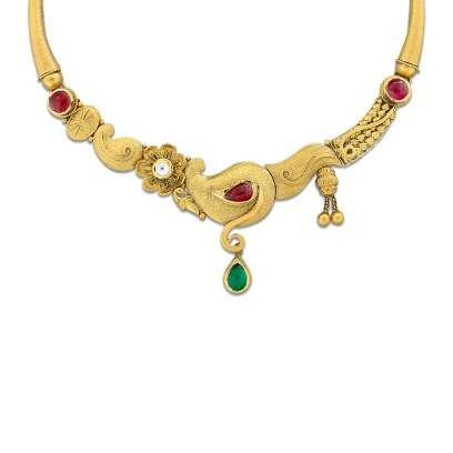 Damita Mudhra Gold Necklace